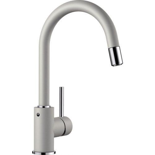 BLANCO MIDA-S Egykaros zuhanyfejes csaptelep gyöngyszürke