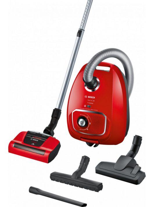Bosch BGLS4PET2 Serie | 4, Porzsákos porszívó, ProAnimal, piros