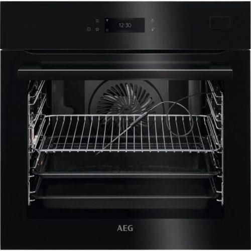 AEG BSE778380B SteamCrisp beépíthető gőzsütő|maghőmérő|Steamify
