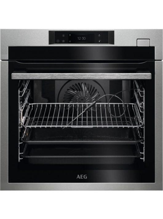AEG BSE778380M SteamCrisp beépíthető gőzsütő|maghőmérő|Steamify
