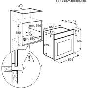 Electrolux EZB3400AOX Beépíthető sütő|LED