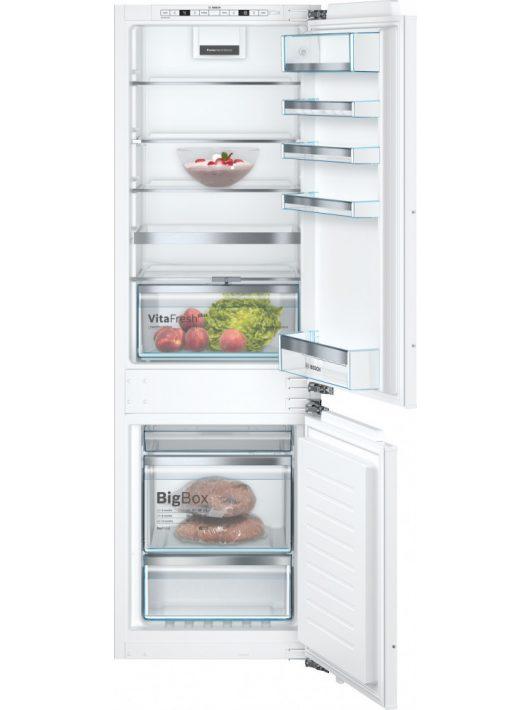Bosch KIN86AFF0 Beépíthető, alulfagyasztós hűtő-fagyasztó kombináció