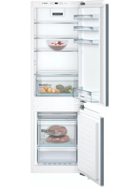 Bosch KIN86VFF0 Beépíthető, alulfagyasztós hűtő-fagyasztó kombináció