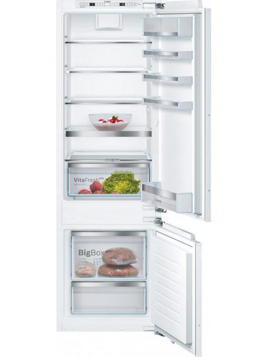 Bosch KIS87ADD0 Beépíthető, alulfagyasztós hűtő-fagyasztó kombináció
