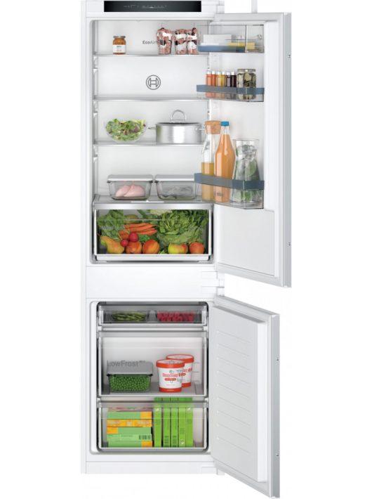 Bosch KIV86VSE0 Serie | 4 Beépíthető, alulfagyasztós hűtő-fagyasztó kombináció