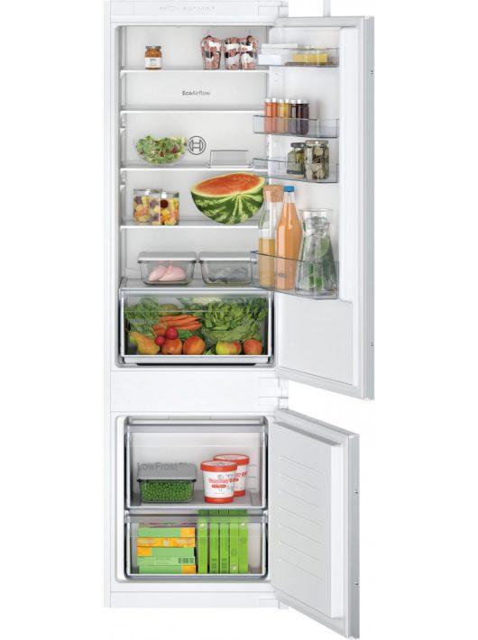 Bosch KIV875SF0 Serie   2 Beépíthető, alulfagyasztós hűtő-fagyasztó kombináció