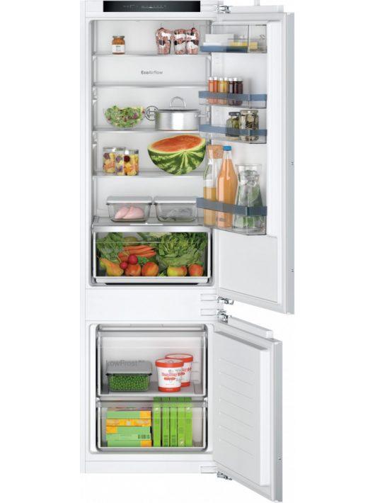 Bosch KIV87VFE0 Serie | 4 Beépíthető, alulfagyasztós hűtő-fagyasztó kombináció