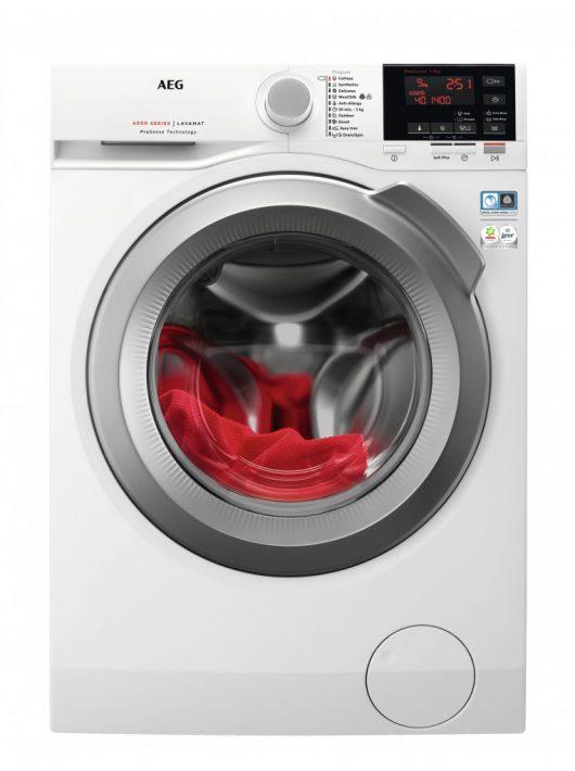 AEG L6FEG49S öltöltős mosógép|9 kg|1400f/p|inverter|LED