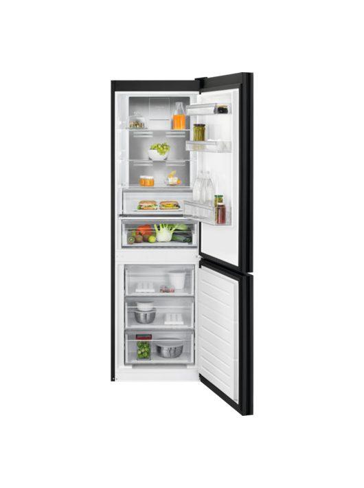 Electrolux LNT7ME32M1 Kombinált Matt fekete üveg hűtőszekrény|NoFrost|186 cm