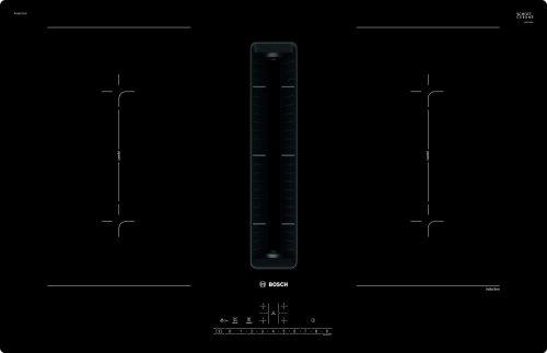 Bosch PVQ811F15E Serie | 6, Indukciós főzőlap, beépített elszívóval, 80 cm