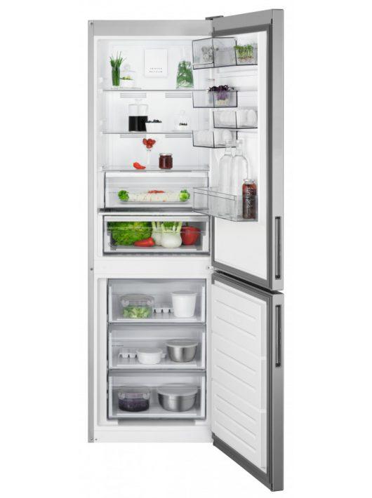 AEG RCB632E5MX Kombinált hűtőszekrény Inox|NoFrost|186 cm