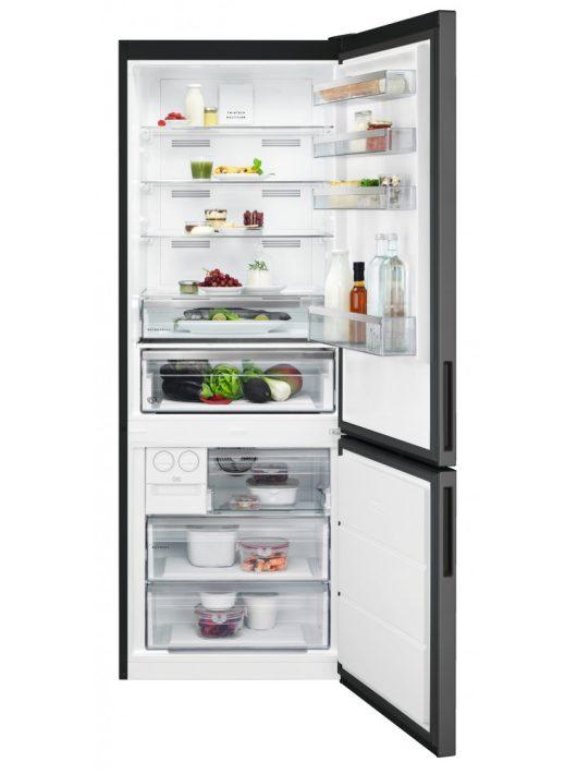 AEG RCB646E3MB Kombinált hűtőszekrény FeketeInox|NoFrost|192 cm|70 cm széles|A++