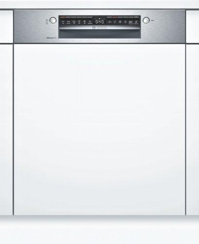 Bosch SMI4ECS14E Serie | 4, Félig beépíthető mosogatógép, 60 cm, Nemesacél