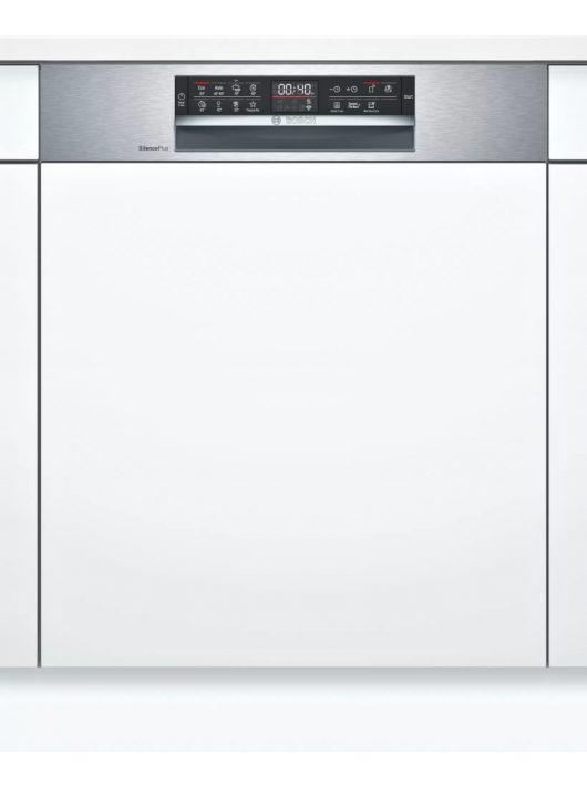 Bosch SMI6ECS51E Serie | 6 Félig beépíthető mosogatógép 60 cm Nemesacél