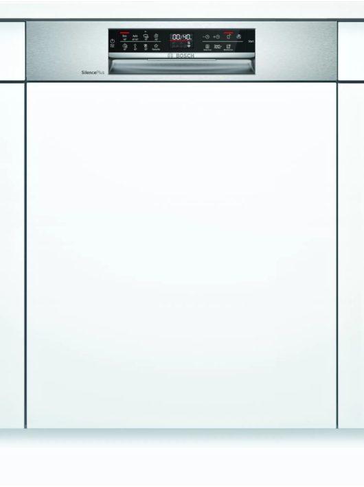 Bosch SMI6ECS57E Serie   6 Félig beépíthető mosogatógép 60 cm Nemesacél
