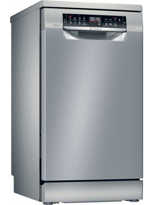 Bosch SPS6EMI23E Serie | 6, Szabadonálló mosogatógép, 45 cm, silver-inox